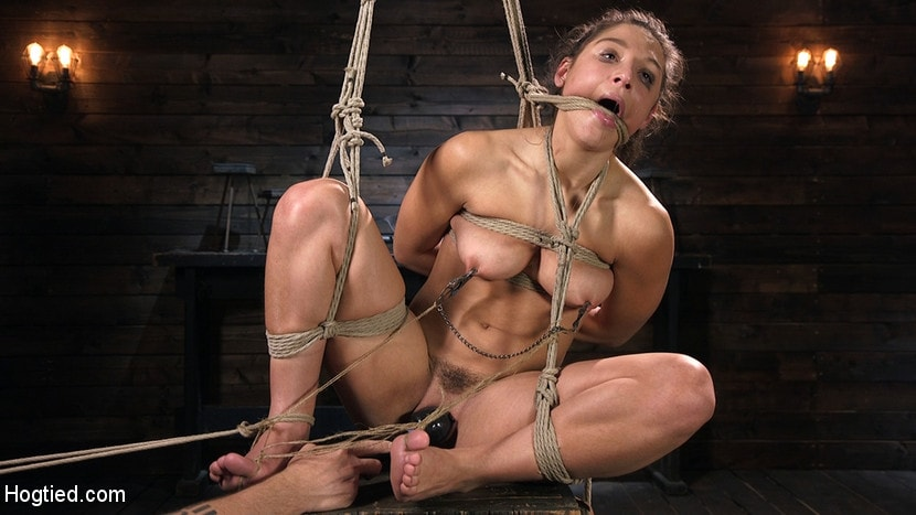 Abella Danger - Hot Body Abella Danger Disciplined and Made to Cum in Rope Bondage!! | Picture (6)