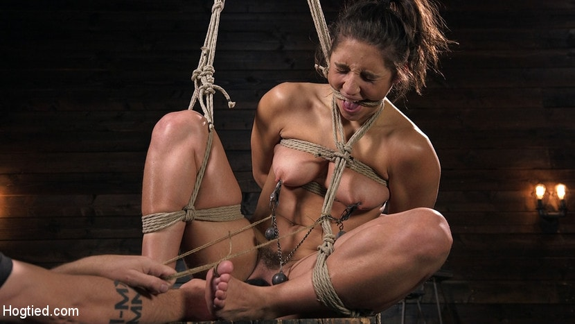Abella Danger - Hot Body Abella Danger Disciplined and Made to Cum in Rope Bondage!! | Picture (9)