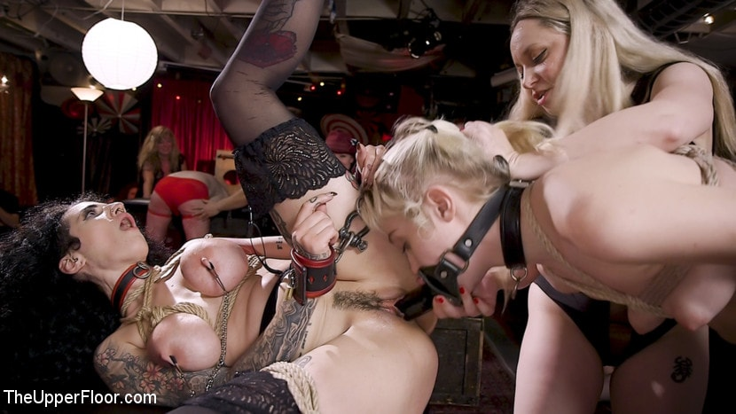 Aiden Starr - Anal Sluts Tied Down for Service at BDSM Swinger Party | Picture (2)