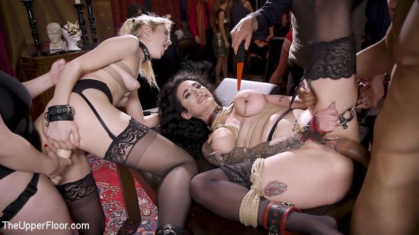 Aiden Starr - Anal Sluts Tied Down for Service at BDSM Swinger Party | Picture (6)