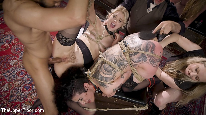Aiden Starr - Anal Sluts Tied Down for Service at BDSM Swinger Party | Picture (23)