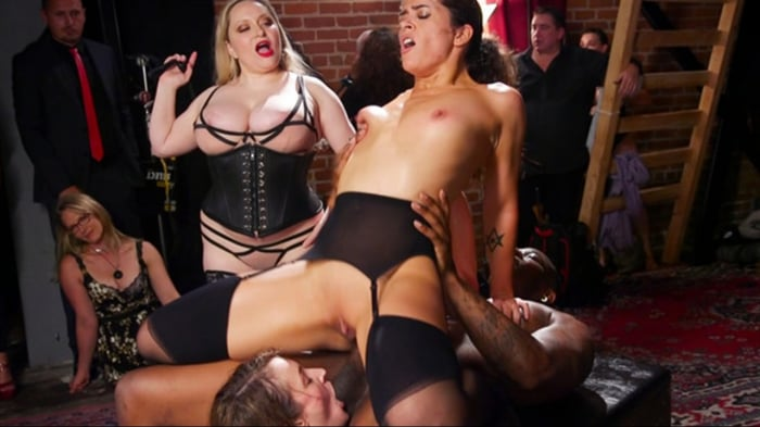Aiden Starr in Orgy of BDSM Players Train Anal Submiss ...