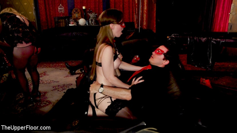 Aiden Starr - Teen Anal Slut Turned Out For Service at BDSM Swinger Soiree | Picture (19)