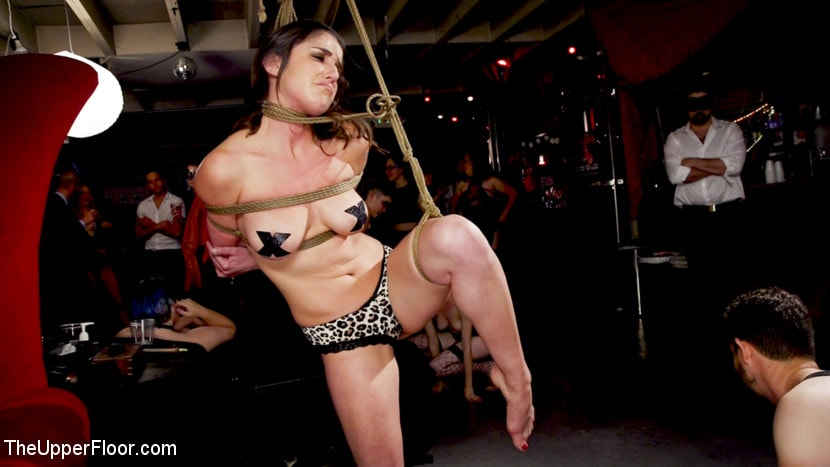 Aiden Starr - Teen Anal Slut Turned Out For Service at BDSM Swinger Soiree | Picture (20)