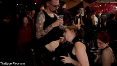 Aiden Starr - Teen Anal Slut Turned Out For Service at BDSM Swinger Soiree | Picture (16)
