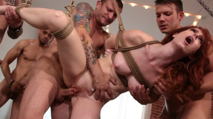 Alex Harper in Alex Harper Bound and Gangbanged by 5 H ...