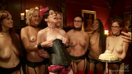 Bella Rossi in Masquerade Orgy with Nine Slaves,100 Ho ...