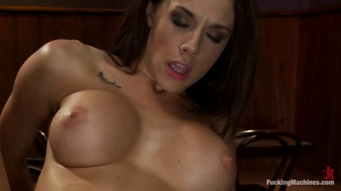 Chanel Preston in Long legs Strandling Robot Cock in a ...