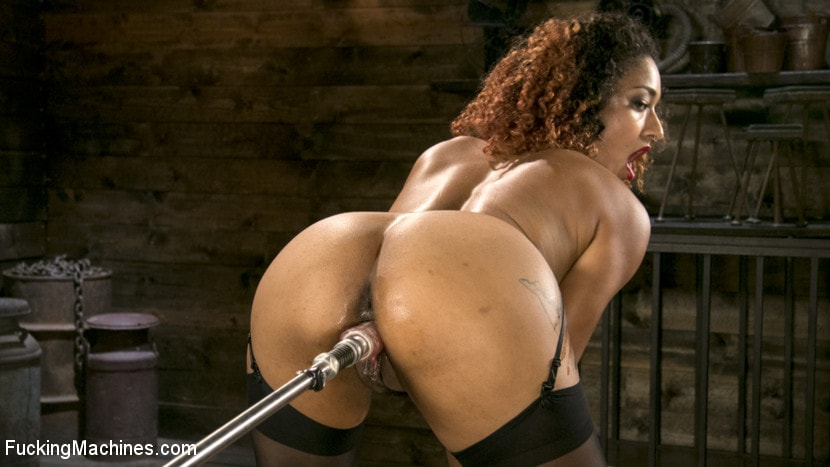 Daisy Ducati - Ebony Squirt Queen Daisy Ducati Gets Royal Fucking Machines Treatment! | Picture (8)