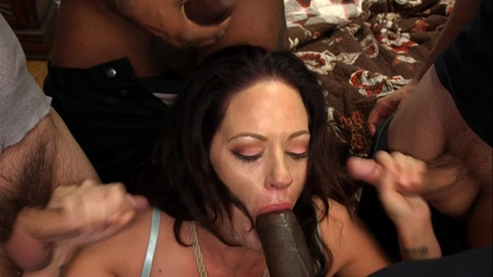 Holly Heart in Hot MILF Wife Gangbanged and Glazed By  ...