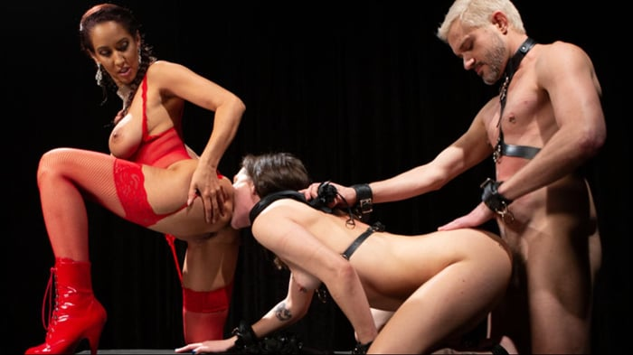Isis Love in Teamwork: Isis Love Sadistically Trains K ...
