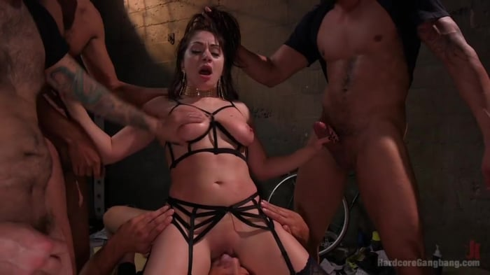 Lea Lexis in Lea Lexis makes her dream gang-bang a rea ...