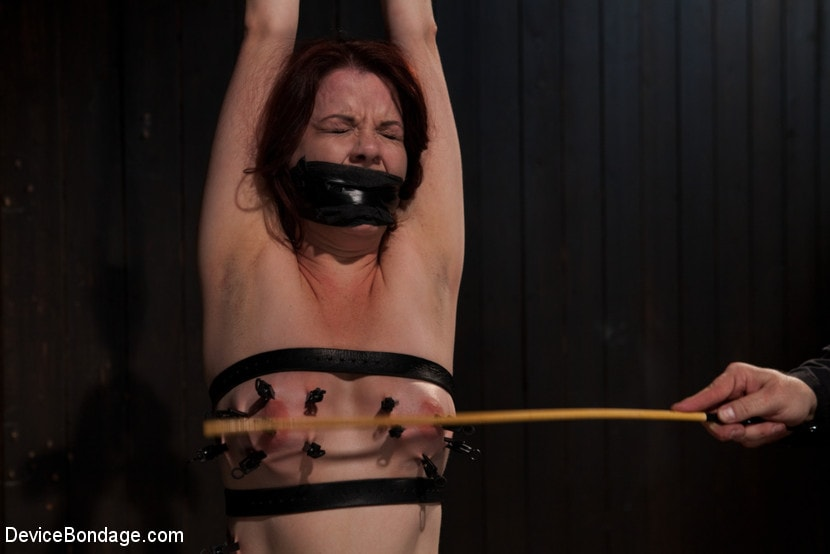 Brunette masturbating and fisting