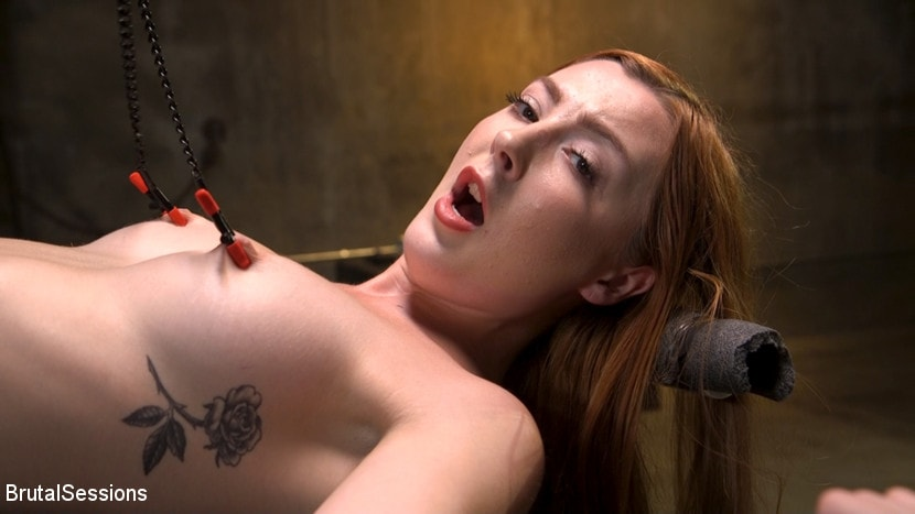Megan Winters - Redheaded Girl Next Store Megan Winters Fucked in Brutal Rope Bondage! | Picture (2)