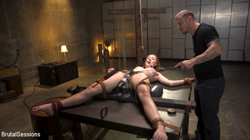 Megan Winters - Redheaded Girl Next Store Megan Winters Fucked in Brutal Rope Bondage! | Picture (3)