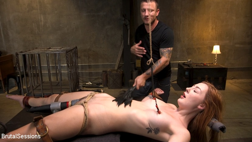 Megan Winters - Redheaded Girl Next Store Megan Winters Fucked in Brutal Rope Bondage! | Picture (6)