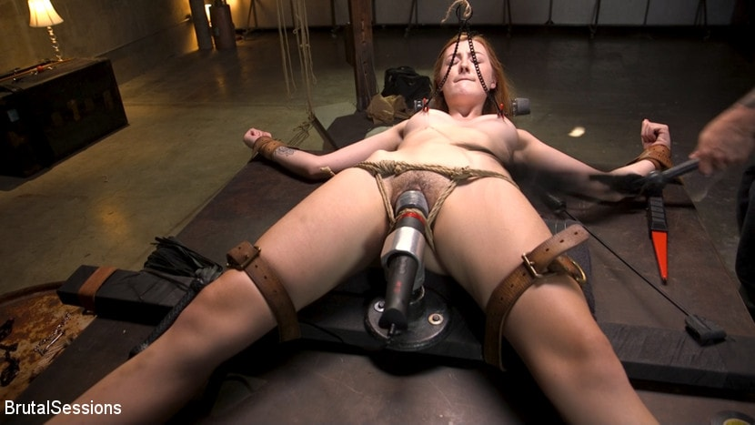 Megan Winters - Redheaded Girl Next Store Megan Winters Fucked in Brutal Rope Bondage! | Picture (7)