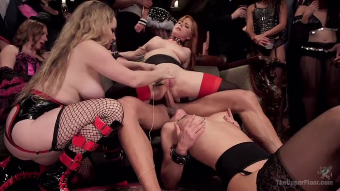 Penny Pax in Sexy Anal Slaves Serve Holiday Orgy