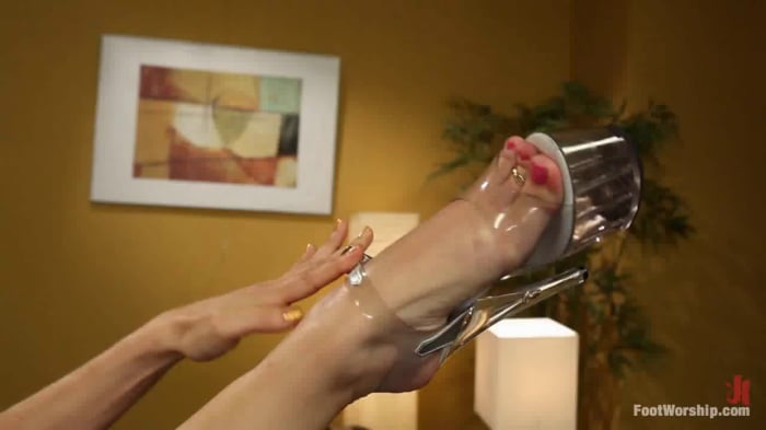 Phoenix Marie in Cum Covered Toes In Clear Heels: A me ...