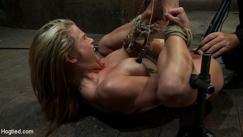Bound lesbian orgasm control