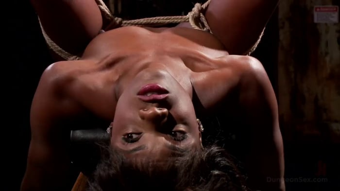 Ana Foxxx in Ebony Submissive Fucked in Tight Bondage