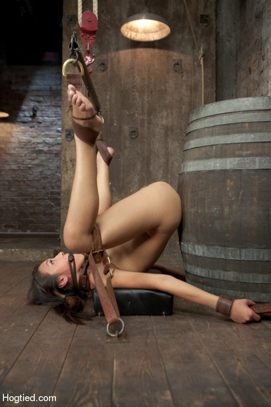 Bound And Bent Over Girl Fucked Aggressively