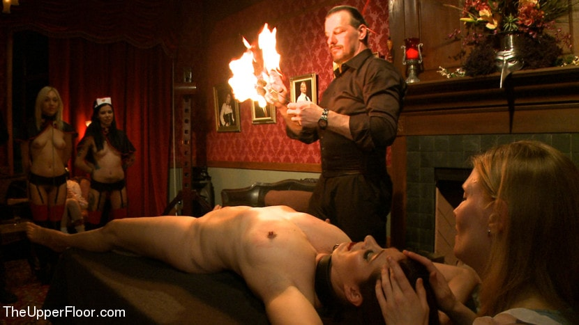 Nadja endures daily bdsm punishment amp humilation with fire amp ice play