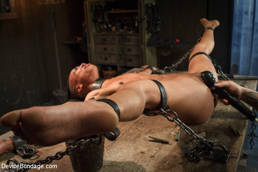 Chained To The Bondage Bed With Key Just Out Of Reach