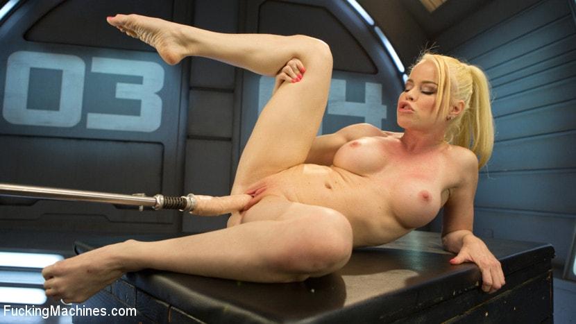 Teen blonde sex machine