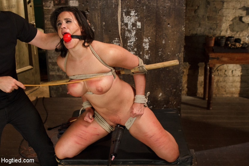 Busty Bondage Latina Squirts In Rough Bdsm