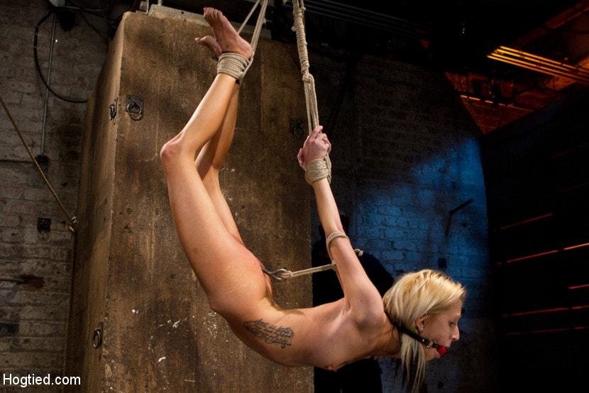Bdsm rope suspension sex