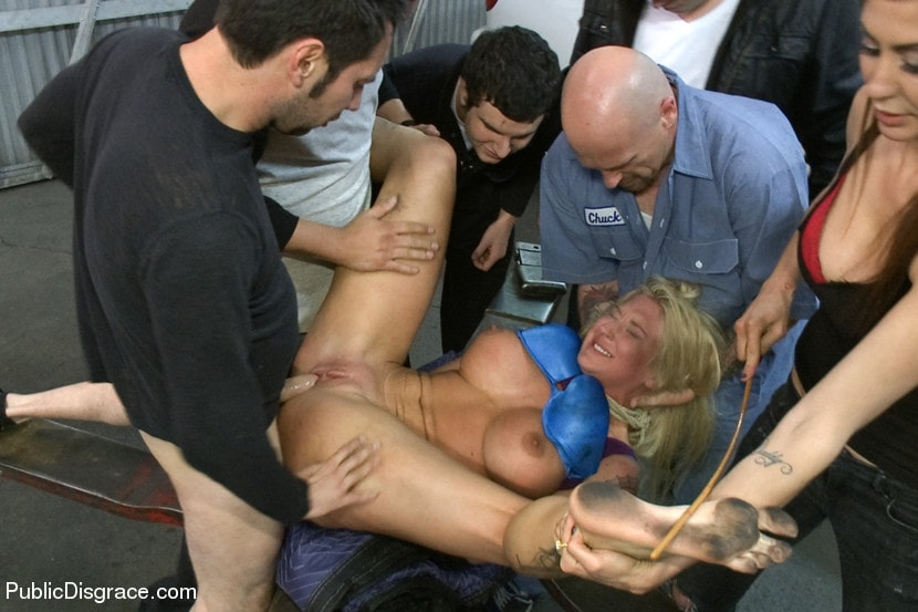 Forced pussy show